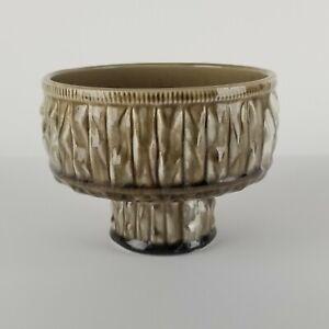 Mid Century Ikebana Vase Ceramic Drip Glaze Abstract Footed Planter Japan Vtg