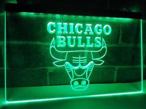 Chicago Bulls Sport Bar LED Neon Light Sign Home Decoration Crafts Pub Room Sign