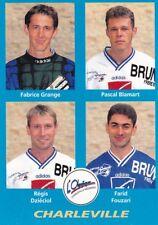 n°360 VIGNETTE PANINI CHAMPIONNAT DE FRANCE 1996 4 joueurs CHARLEVILLE