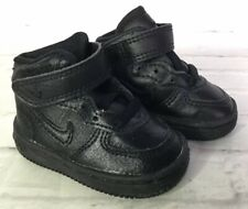 VTG Nike Infant Baby Boys Girls Size 2C Black High Top Sneakers Shoes Lace Up