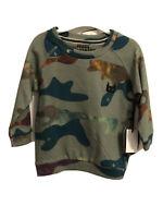 NWT Mini Munster Toddler Boys Sweatshirt Size 12/18 Months Camo Print