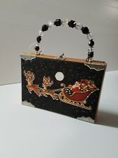 Wooden Hand Painted Christmas Jewelry Decorative  Box Gift