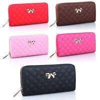 Womens Leather Zip Long Wallet Clutch Card Holder Coin Purse Girls Case Handbags