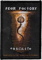 Official Licensed Merch Woven Sew-on PATCH Heavy Metal FEAR FACTORY Obsolete