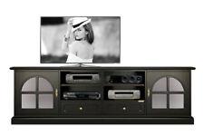 Mueble de tv por salón, mueble color negro 2 metros, mueble hecho en madera