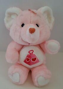 "Vintage 1984 Care Bears Cousins Plush Lotsa Heart Elephant 13"" Stuffed Animal"