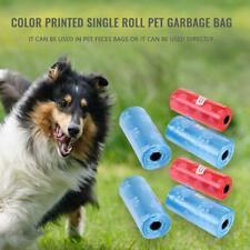 12 Rolls Printed Dog Poop Bag Pet Garbage Bags Dogs Waste Pick Up Clean Bag