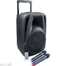 """BM 882 diffusore amplificato 10"""" da 80w con 2 radiomicrofoni"""