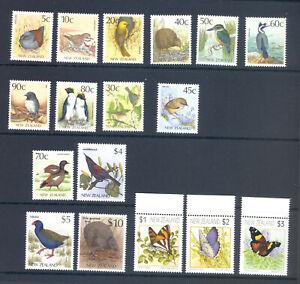 NEW ZEALAND BIRDS & BUTTERFLIES $29 FACE VALUE POSTAGE LOT MNH
