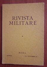 R33> Rivista Militare n.9 Roma settembre 1971