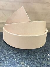 """Hermann Oak #2 Grade Veg Tan Cow Hide Leather Belt Strip 1-1/2"""" 48-60"""""""