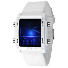 Unisex Women's Men's Digital Led Chronograph Quartz Sports Wrist Watch Silicone