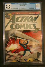 Action Comics #19 CGC 2.0 DC 1939 Key Early Superman Cover. Looks better than G