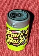 LEGO Power Bolt Minifigure Soda Pop Can Drink Brick Round 1 x 1 Lime Green RARE