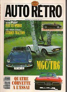 AUTO RETRO 131 MGC TRIUMPH TR6 CORVETTE 1962 74 CITROEN TRACTION NORTON 500 35