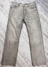 JOHN VARVATOS USA Mens Grey Classic Straight Leg Button Fly Jeans Size 40x34