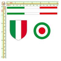 Adesivi strisce bandiera italia flag sticker auto moto casco print pvc 4 pz.