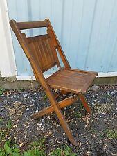 Vintage Unique Folding Slated Wooden Chair / Unique Folding Mech.