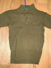 New listing Wwii Us Army Gi Wool Sweater 5 Button Small Medium High Neck Pullover