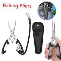 """Fishing Pliers 6.5"""" Saltwater Stainless Steel Tool Hook Remover Braid Cutter"""