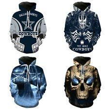 Dallas Cowboys Hoodie 3D Print Football Hooded Sweatshirt Pullover Casual Jacket