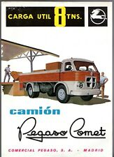 Pegaso Comet 8 Ton Truck 1960s Spanish Market Single Sheet Sales Brochure
