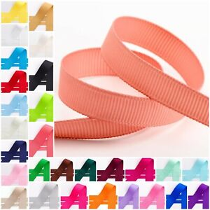 Grosgrain Ribbon - Full 10m Reel 10mm 15mm 25mm 38mm Oeko-tex Wedding Crafts