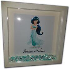 PRINCESS JASMINE Personalised Diamante Box Frame - Disney Aladdin Print & Frame