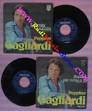 LP 45 7'' PEPPINO GAGLIARDI La mia poesia Ancora piu'vicino a te no cd mc dvd
