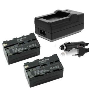 2x Akku 4400mAh + Ladegerät für Yongnuo YN300 YN600 YN600-II LED Kameralicht