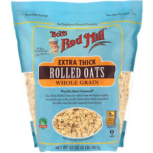 Extra Thick Rolled Oats, Whole Grain, 32 oz (907 g)