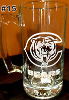 CHICAGO BEARS sport Beer Mug 16oz SMALL Personalized Laser  Engraved FREE SHIPP
