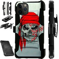 For iPhone 11/X/8/7/6 PRO MAX PLUS Holster Phone Case PIRATE SKULL LuxGuard