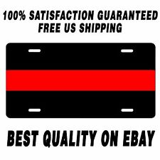 Fire Department Thin Red Line License Plate car fire fighters memorial tag METAL