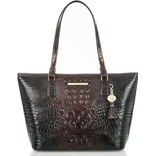 NWT BRAHMIN MEDIUM ASHER LEATHER TOTE COCOA MELBOURNE BROWN