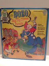 BOZO and the BIG TOP CIRCUS PARADE 45 Rpm Peter Pan Records LARRY HARMON New Vtg