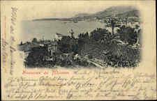 Souvenir de Mentone FRANCIA CARTE POSTALE 1900 andate n. HAIGER (a-TIMBRO)