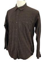 Patagonia Organic Cotton Men's Shirt Brown Check Size Medium