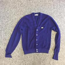Izod Lacoste Womens Possibly Size 42 Solid Purple Button Front Sweatshirt