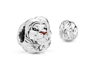 Genuine Pandora Charm Silver DISNEY Lion King Simba Portrait 798049ENMX