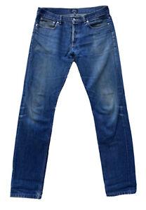 APC Petit Standard Droit Etroit Men's Cotton Blue Jeans Size 32