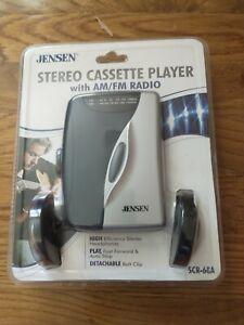 Jensen SCR-68A AM/FM Stereo Cassette Tape Player & Headphones Sealed New Vintage