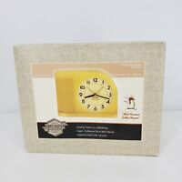 Reproduction Big Ben Moon Beam Alarm Snooze Clock Cream Yellow Westclox NIB 4300
