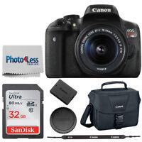 Canon EOS Rebel T6i Digital SLR Camera Body + Canon 18-55mm IS STM Lens +Top Kit
