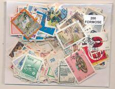 Formosa-Taiwan    US  Paquete  200 sellos diferentes