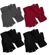 4 Pairs Half Finger Gloves Knitted Fingerless Mittens Warm Stretchy Men Women