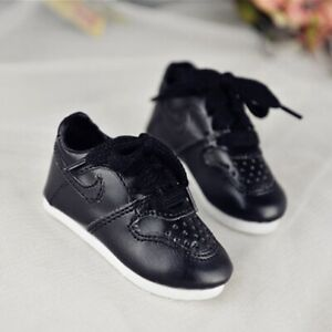 "BJ Black Running Shoes Sports Flats NK For 1/4 17"" BJD MSD AOD AS DOD DZ DD DOLL"