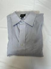 Men's LS Dress Shirt Jos A Bank 18-34 Green Mini Check