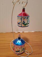 Vintage West German Blown Glass Christmas Ornament 2 Christmas carousels
