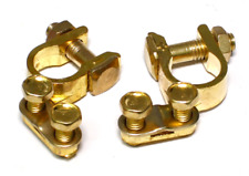 Replacement Automotive Boat RV Battery Terminals Clamp Connector Gold One Set